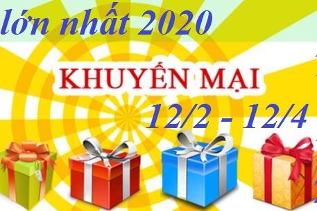 KHUYẾN MẠI LỚN NHẤT TRONG NĂM 2020
